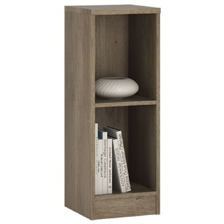 4 You Low Narrow Bookcase in Pearl White / Sonama